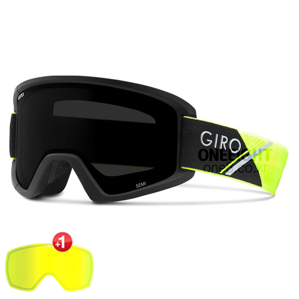 지로 고글 세미+추가렌즈 #BGO704YE / ULTRA BLACK+YELLOW 17 GIRO SEMI / HIGHLIGHT YELLOW SPORT TECH